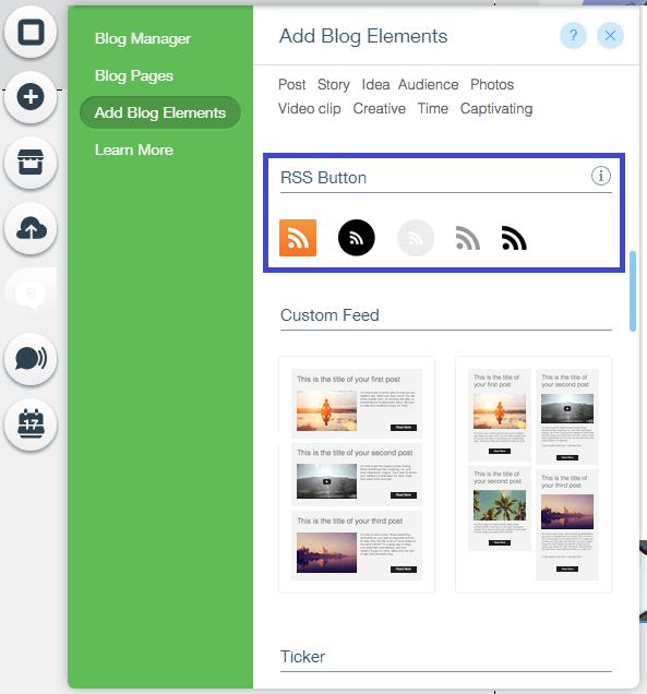 איך מוסיפים RSS FEED ל-Wix