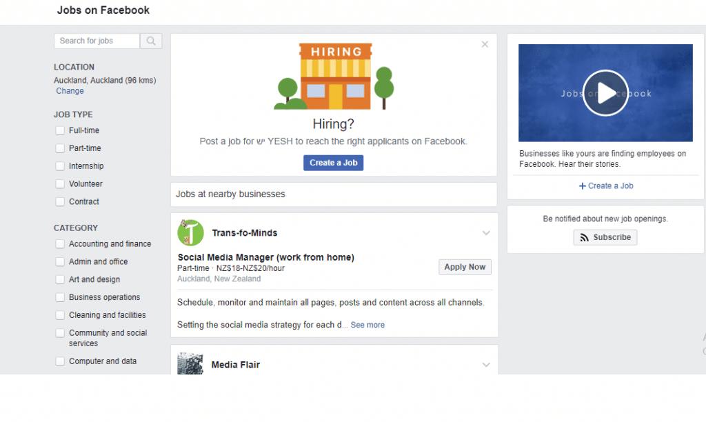 פרסום משרה בפייסבוק – מקום נוסף בו תוכלו למצוא את העובד המושלם או המשרה המושלמת