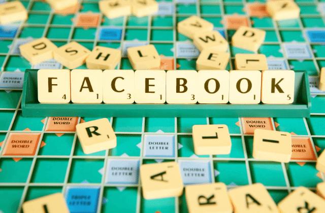 קוביות אותיות פייסבוק