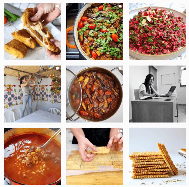 אינסטגרם של בלוגרית בישול