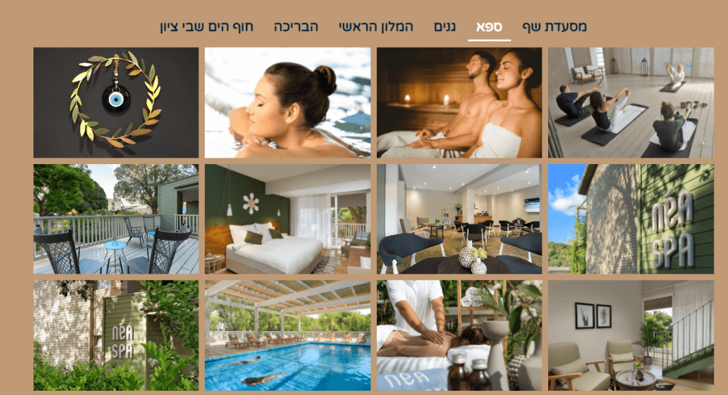 עיצוב אתרים מלון בוטיק